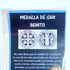 Joyeria: MEDALLA DE SAN BENITO , NUEVA EN EMPAQUE. Lote 186006996