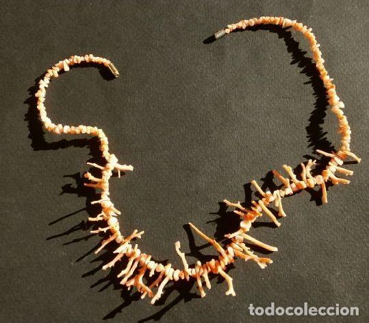 Joyeria: COLLAR CORAL en Rama - RAMAS DE CORAL ROJO natural TIPO GARGANTILLA 42 cm -vintage-Dificil encontrar - Foto 4 - 191373807