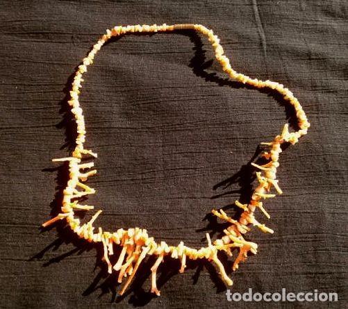 Joyeria: COLLAR CORAL en Rama - RAMAS DE CORAL ROJO natural TIPO GARGANTILLA 42 cm -vintage-Dificil encontrar - Foto 6 - 191373807