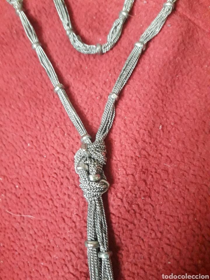 Joyeria: Antiguo collar vintage de metal plateado - Foto 2 - 194289052