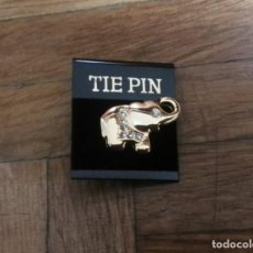 Joyeria: PIN ELEFANTE TIE PIN CON PEDRERIA. Lote 195138121