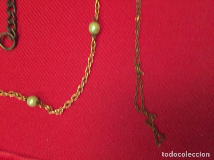 Joyeria: Antiguo lote de collar / gargantilla / cadenas de bisutería para señora varios materiales años 50 - Foto 2 - 195238231