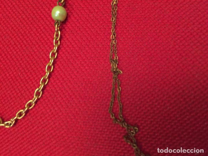 Joyeria: Antiguo lote de collar / gargantilla / cadenas de bisutería para señora varios materiales años 50 - Foto 3 - 195238231