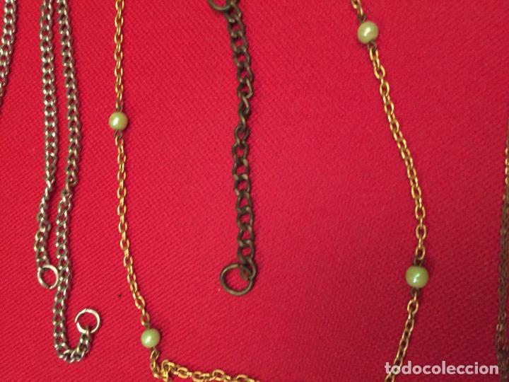 Joyeria: Antiguo lote de collar / gargantilla / cadenas de bisutería para señora varios materiales años 50 - Foto 6 - 195238231