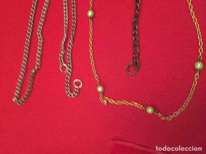 Joyeria: Antiguo lote de collar / gargantilla / cadenas de bisutería para señora varios materiales años 50 - Foto 8 - 195238231