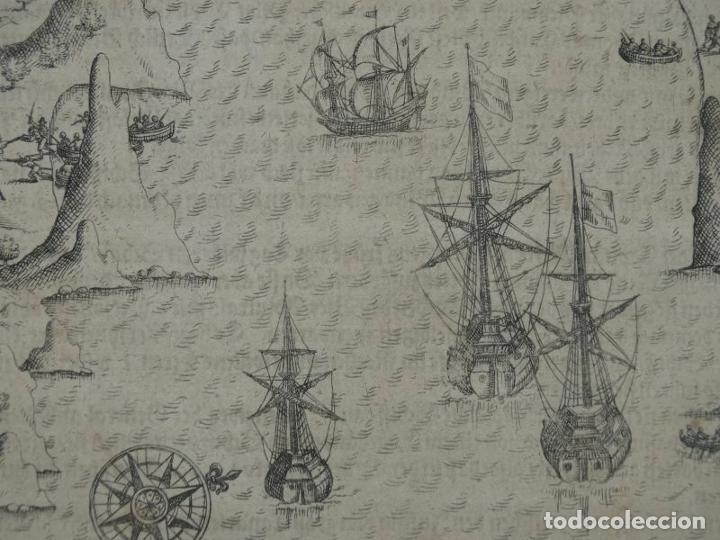 Joyeria: Vista del puerto y bahia de Rio de Janeiro (Brasil), 1655. Merian/De bry/Gottfried - Foto 2 - 195275178