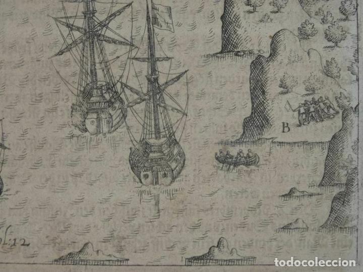 Joyeria: Vista del puerto y bahia de Rio de Janeiro (Brasil), 1655. Merian/De bry/Gottfried - Foto 5 - 195275178