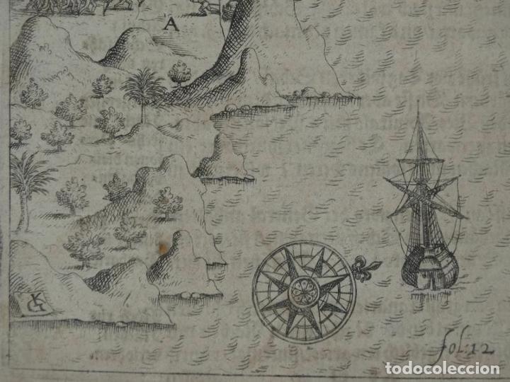 Joyeria: Vista del puerto y bahia de Rio de Janeiro (Brasil), 1655. Merian/De bry/Gottfried - Foto 6 - 195275178