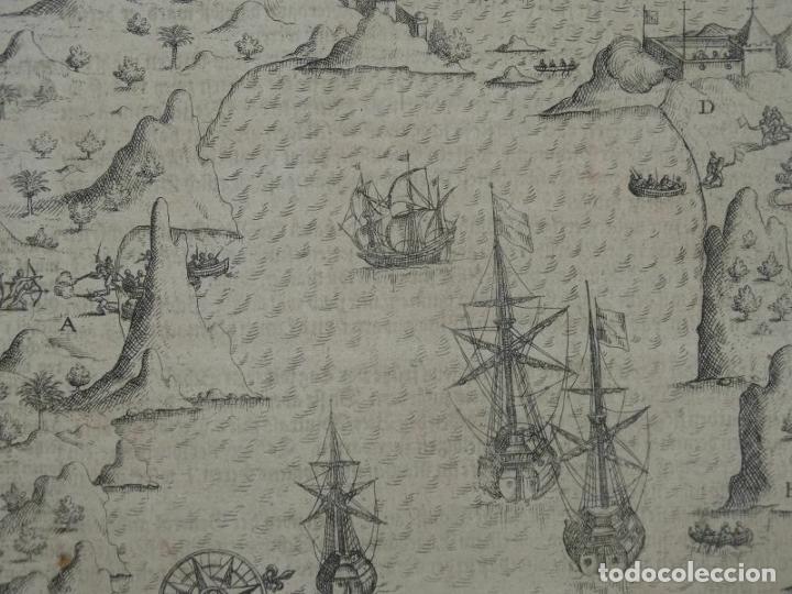Joyeria: Vista del puerto y bahia de Rio de Janeiro (Brasil), 1655. Merian/De bry/Gottfried - Foto 7 - 195275178
