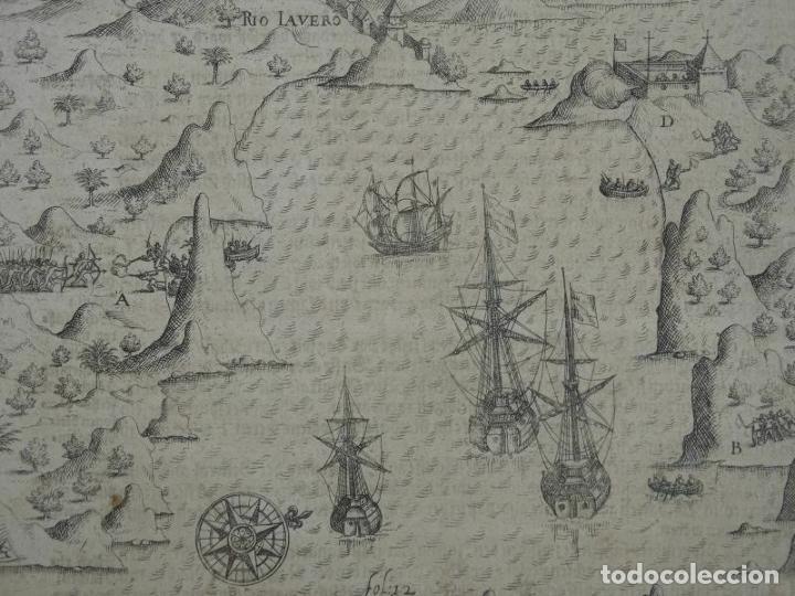 VISTA DEL PUERTO Y BAHIA DE RIO DE JANEIRO (BRASIL), 1655. MERIAN/DE BRY/GOTTFRIED (Bisutería)