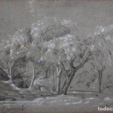 Joyeria: DIONIS BAIXERAS VERDAGUER (BARCELONA , 1862 - 1943) DIBUJO A CARBON Y CLARION. SANTA CRUZ. Lote 195343202