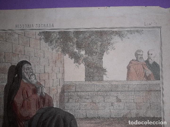 Joyeria: ANTIGUO GRABADO HISTORIA SAGRADA 4ª SERIE LAMINA 1ª TOBIAS CIEGO FIRMA LLANTA F, MENCHACA LOGROÑO - Foto 5 - 195344317