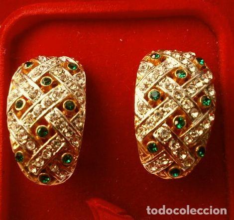 Joyeria: CONJUNTO BROCHE Y PENDIENTES CON PEDRERIA VINTAGE (AÑOS 70-80) Cristales BISUTERIA fantasia - Foto 2 - 195325155