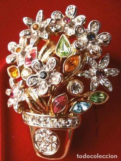 Joyeria: CONJUNTO BROCHE Y PENDIENTES CON PEDRERIA VINTAGE (AÑOS 70-80) Cristales BISUTERIA fantasia - Foto 9 - 195325155
