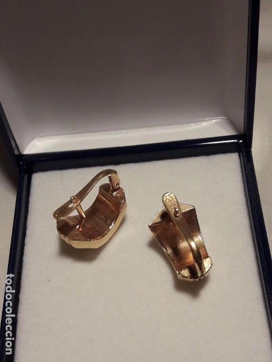 Joyeria: Bellos pendientes con baño de oro - Foto 7 - 199916130