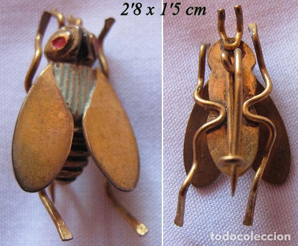 Joyeria: TRES BROCHES DE INSECTOS ANTIGUOS - Foto 2 - 201353913