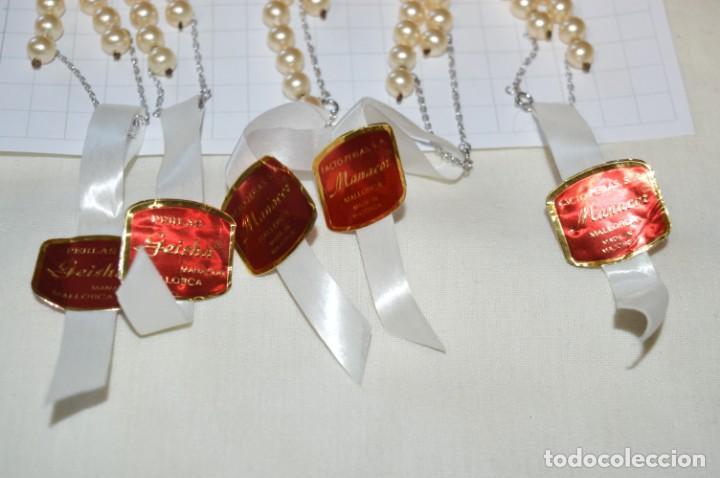 Joyeria: Vintage / NOS - 5 Collares de PERLAS GEISHA / Facto Perlas S.A. - Manacor / MALLORCA - ¡MIra! - Foto 3 - 202018136