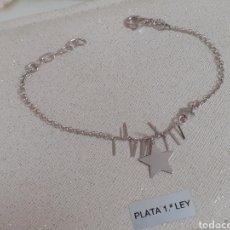 Joyeria: PULSERA DE PLATA DE LEY CON DETALLE DE ESTRELLAS. Lote 203161006