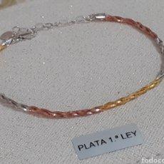 Joyeria: PULSERA DE PLATA DE LEY CON BAÑO DE ORO. Lote 203161350