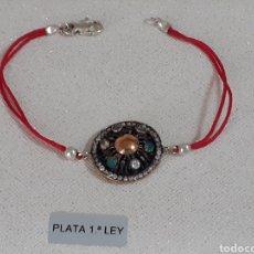 Joyeria: PULSERAS DE PLATA Y ESMERALDAS. Lote 203166908