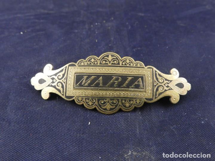 Joyeria: PASADOR BROCHE IMPERDIBLE CON EL NOMBRE DE MARIA MUY BONITO - Foto 5 - 208757851