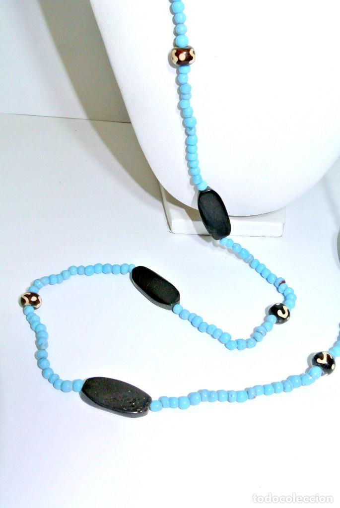 Joyeria: Collar cristal azul y hueso, nuevo - Foto 2 - 209792087