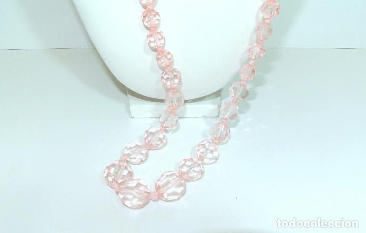 Joyeria: Collar vintage cristalino rosa, nuevo - Foto 2 - 209845683