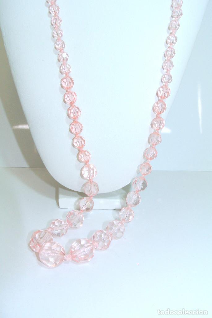Joyeria: Collar vintage cristalino rosa, nuevo - Foto 3 - 209845683