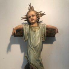 Joyeria: NIÑO JESUS CON CRUZ ANTIGUO, SELLO ARTE CRISTIANO OLOT . 54CM.. Lote 210570093