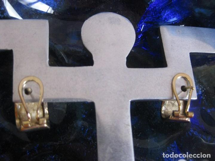 Joyeria: ANTIGUOS PENDIENTES VINTAGE EN ORO GF GOLD FILLED CHAPADO PLAQUÉ. CIERRE OMEGA.VER Y LEER - Foto 3 - 212123626