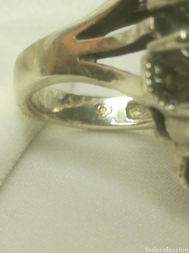 Joyeria: Anillo plata turquesas y marquesitas - Foto 4 - 212650637