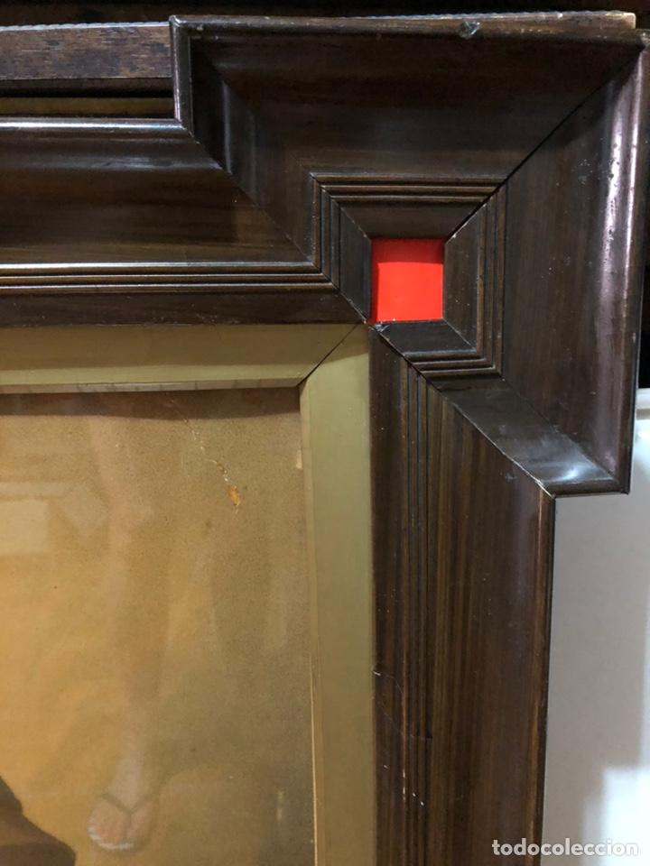 Joyeria: Lámina de San Antonio. marco antiguo .82 x 68 cm con marco . Lamina : 50x 60 cm - Foto 5 - 214082522