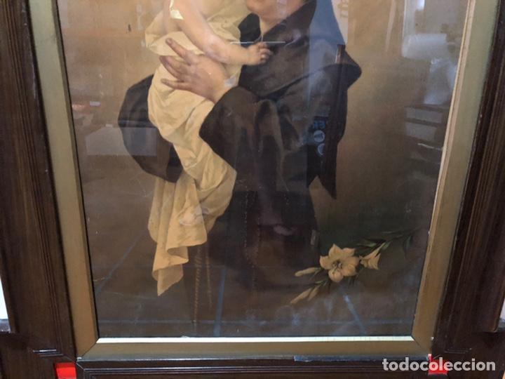 Joyeria: Lámina de San Antonio. marco antiguo .82 x 68 cm con marco . Lamina : 50x 60 cm - Foto 7 - 214082522