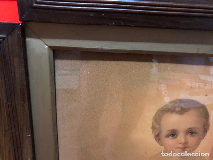 Joyeria: Lámina de San Antonio. marco antiguo .82 x 68 cm con marco . Lamina : 50x 60 cm - Foto 8 - 214082522