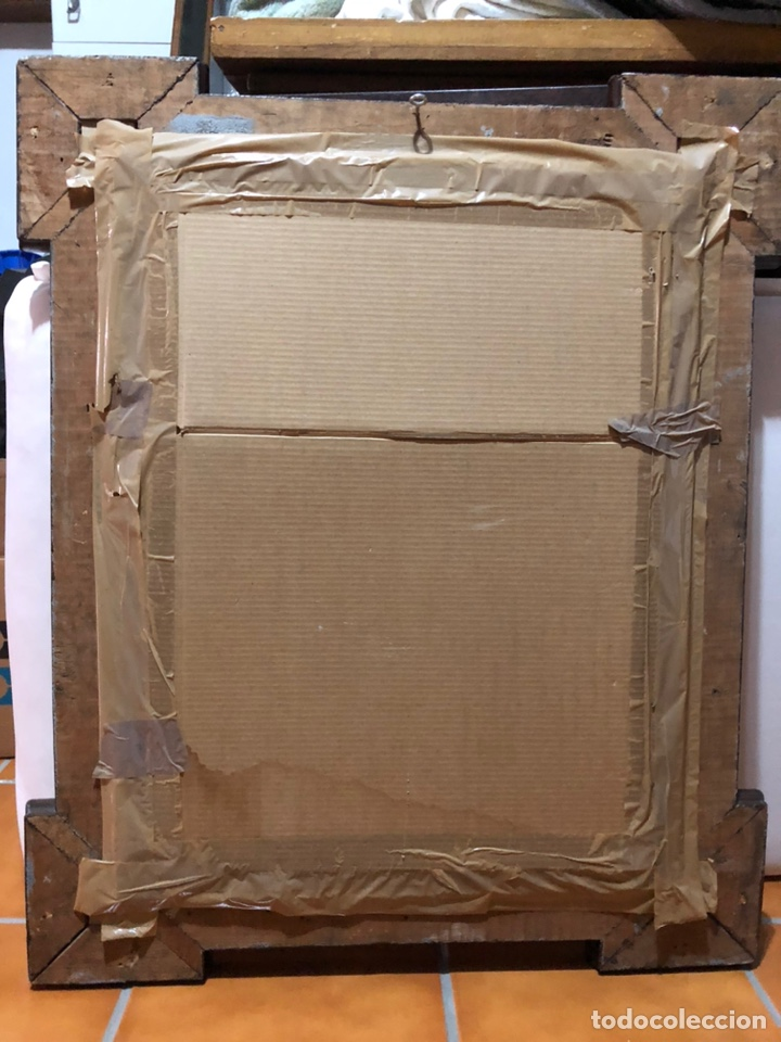 Joyeria: Lámina de San Antonio. marco antiguo .82 x 68 cm con marco . Lamina : 50x 60 cm - Foto 11 - 214082522