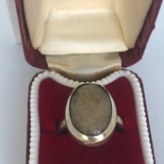 Joyeria: ANTIGUO ANILLO CON PIEDRA NATURAL. Lote 214135760