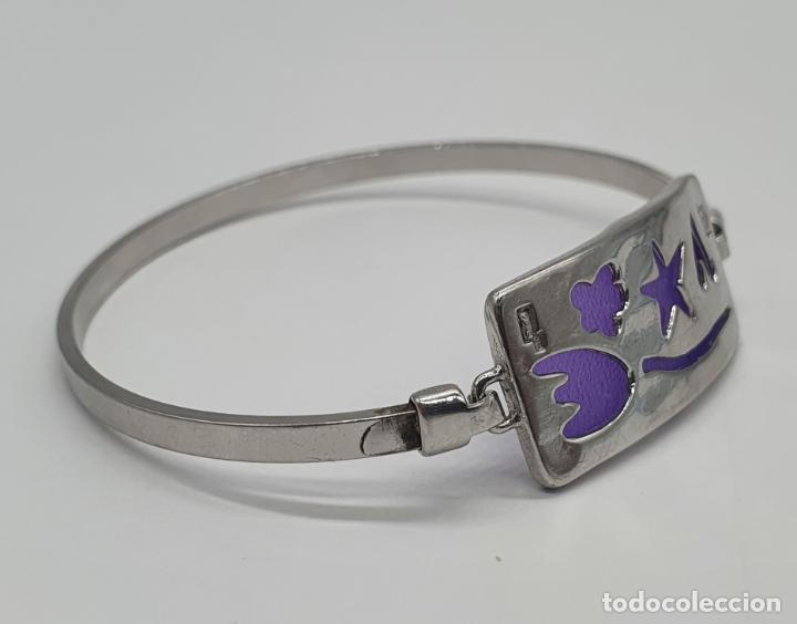 Joyeria: Brazalete en plata de ley contrastada 925 con motivos troquelados . - Foto 5 - 214556412