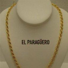 Joyeria: CORDON RIZADO DE ORO AMARILLO DE 18 KILATES LAMINADO - MIDE 51,5 X 0,5 CM PESA 32 GRA - P3. Lote 216892562
