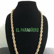 Joyeria: CORDON RIZADO DE ORO AMARILLO DE 24 KILATES LAMINADO - MIDE 51 X 0,5 CM PESA 38 GRA - P1. Lote 216900398