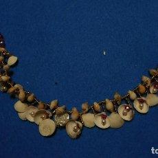 Joyeria: GARGANTILLA DE CARACOLILLOS, CONCHAS Y PERLAS. Lote 220971483