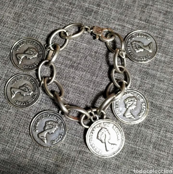 Joyeria: Pulsera plateada monedas,Queen Elizabeth - Foto 2 - 221302073