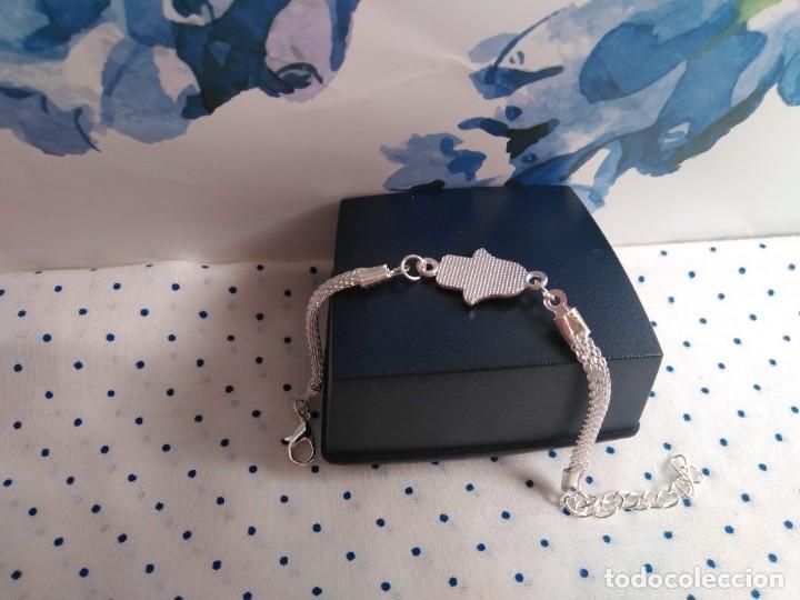 Joyeria: Pulsera acero inox. mano de Fátima con ojo turco amuleto protector - Foto 4 - 221515261
