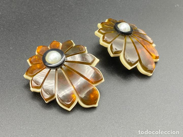 Joyeria: Gissa Bicalho , estilo art decó , acrilico , pendientes de diseño firmados , earrings - Foto 2 - 222432355