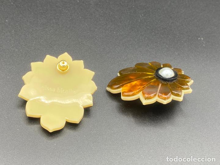 Joyeria: Gissa Bicalho , estilo art decó , acrilico , pendientes de diseño firmados , earrings - Foto 4 - 222432355