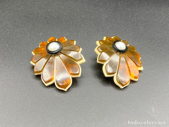 Joyeria: Gissa Bicalho , estilo art decó , acrilico , pendientes de diseño firmados , earrings - Foto 5 - 222432355