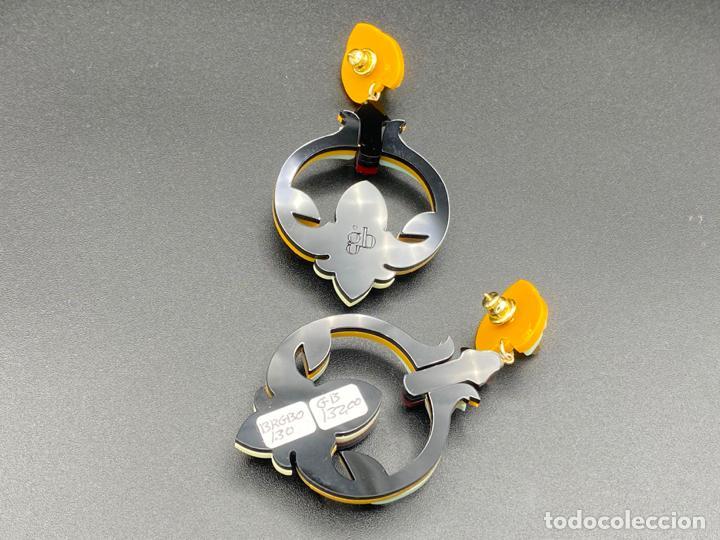 Joyeria: Gissa Bicalho , estilo art decó , acrilico , pendientes de diseño firmados , earrings - Foto 4 - 222433003