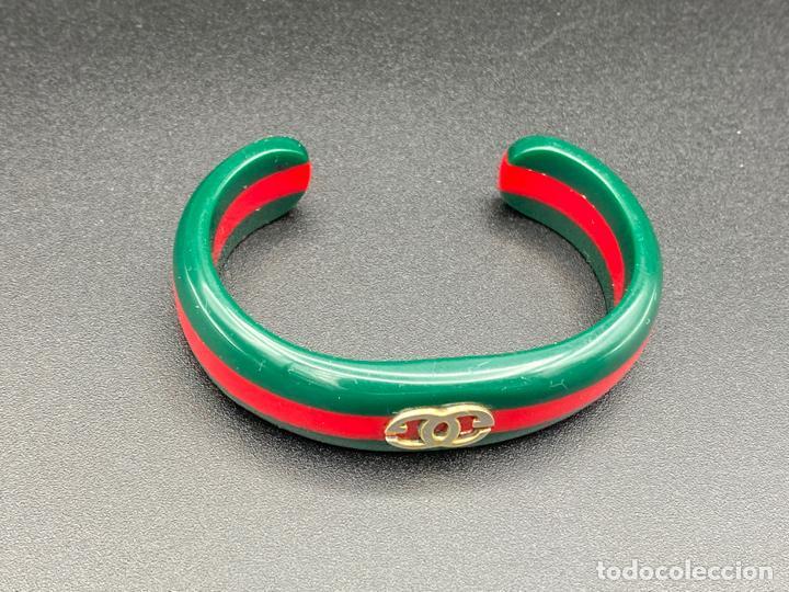 Joyeria: Bracelet Gucci original lucite , pulsera brazalete Gucci , vintage - Foto 2 - 222434691
