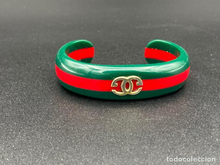 Joyeria: Bracelet Gucci original lucite , pulsera brazalete Gucci , vintage - Foto 4 - 222434691
