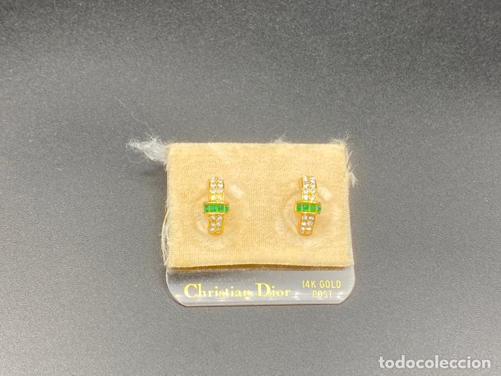 Joyeria: Pendientes de bisutería de Christian Dior , vintage , earrings 14k gold post - Foto 2 - 222443922