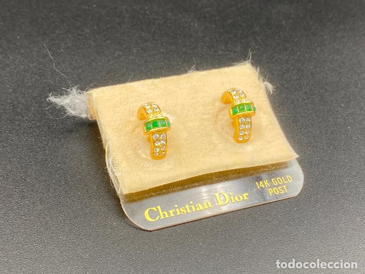 Joyeria: Pendientes de bisutería de Christian Dior , vintage , earrings 14k gold post - Foto 3 - 222443922